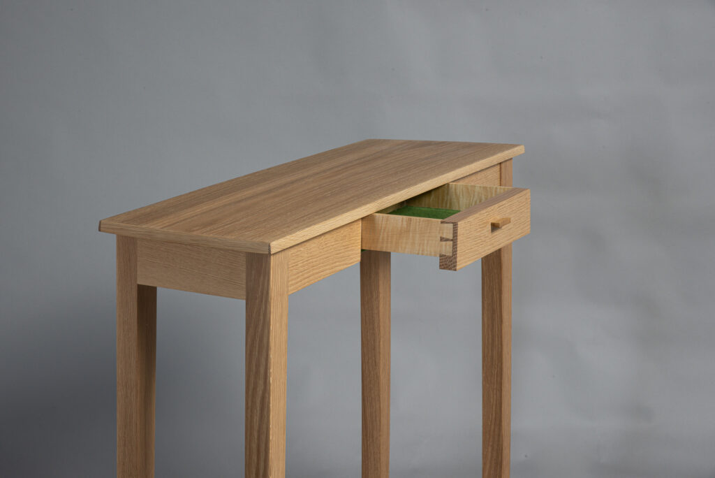 Small Table with open drawer